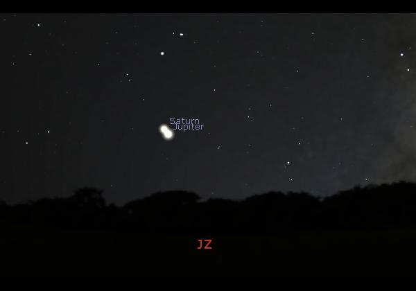 Jupiter splyne se Saturnem a vytvoří